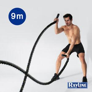 Rayline Trainingsseil Battle Rope Sportseil Tau 9m Training-Fitness-Bodybuilding