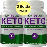 Alkatone Labs Keto BHB Weight Loss Pills 2 Bottle Pack, Advanced Natural Keto...