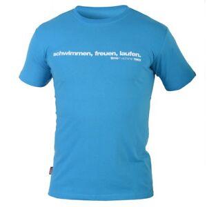 """weiches und angenehmes BMC T-Shirt """"schwimmen, freuen, laufen"""" Men türkis *NEU*"""