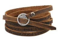 Lederarmband mit Gravur/Wörter/Beschriftet Armband, Echtes Leder, Herren Unisex