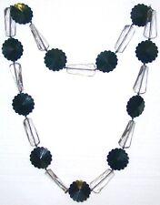 BIGIOTTERIA - Collana  c/perle di plastica trasparenti e nere