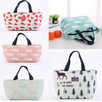 Portable Insulated Lunch Bag Carry Tote Picnic Storage Carry Case Thermal Bags