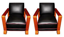 Stylish Pair of Matching Art Deco Chairs, France 1900-1950 #6532