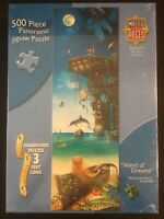 "MASTER PIECES ""ISLAND OF DREAMS"" MERMAID JIGSAW PUZZLE-500 PC-3 FT LONG-SEALED"