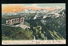 Switzerland STANSERHORN General view U/B PPC Used 1904