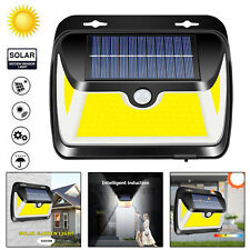 163LED COB Solar Power Light PIR Motion Sensor Security Garden 3 Sided Wall Lamp