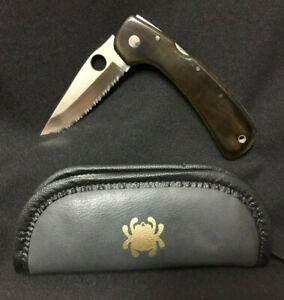 Spyderco Wayne Goddard C16S Fully Serrated Folding Lock Blade Knife & Case VTG