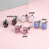 Sweet Rhinestone BIRTHSTONE Women Fashion Ear Stud Post Earrings Jewelry Gift