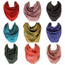 Foulards à motif floral en polyester pour femme