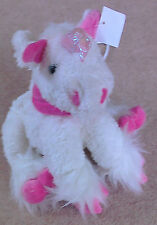 Unicorn Bag, White, NEW, soft and cuddly, 12 x 10 inches approx., Langs