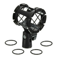Universal Shotgun Microphone Mic Suspension Shock Mount Pencil Clamp Holder Rack