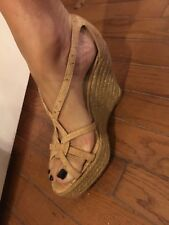 oscar de la renta Women's Cork Wedge Edpadrilles Size  6 (37)