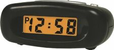 Bentima Alarm Clock Black Crescendo LCD Light Snooze Acctim Small Travel Digital