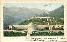 1903 Genova camposanto esterno dintorni campi montagne ferrovia FP COL VG