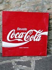INSEGNA BEVETE COCA COLA Targa Vintage metallo tabella pubblicità
