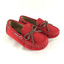 Skoex Toddler Boys Loafers Moccasins Slip On Faux Suede Red Size 28 US 11