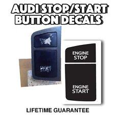 A6/C6  Audi BLACK STOP START BUTTON Repair Worn Peeling Button Decal Sticker