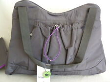 "Baggallini ""Motivate Tote"" Yoga, Gym Bag, Smoke (Grey), New (NWT)   $108 Ret."