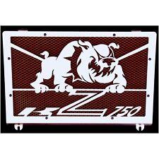 cache / Grille de radiateur inox poli Kawasaki Z750 04>06 Bulldog + grill rouge