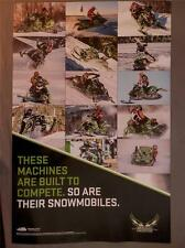 "Arctic Cat 28""x35"" racing snowmobile poster These Machines are Built to Compete!"