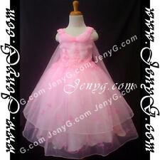 Robes roses en polyester pour fille de 3 à 4 ans