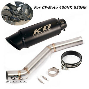 Slip for CF-Moto 400NK 650NK Motor Exhaust Tips Muffler Tail Tube Mid Link Pipe