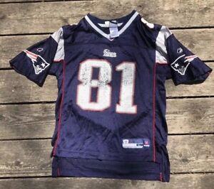 Vtg Boys Sz L New England Patriots Randy Moss #81 Pats Jersey