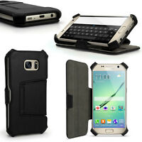 Cuir PU Etui Housse pour Samsung Galaxy S7 SM-G930 Flip Coque Case Cover + Film