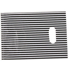 100pcs White&Black Stripe Plastic Carrier Bags Fit Shopping Boutique Store Use D