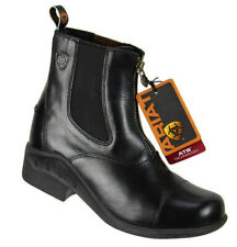Ariat Womens 42105 Heritage RT Paddock Zip Riding Boots Size 8.5B Black Leather