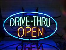 "New Drive Thru Through Open Light Lamp Beer Neon Sign 24""x20"""