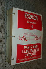 1986-92 Oldsmobile Delta 88 Royale Parts Book Catalog Gm Numbers Manual Original