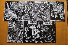 JAPAN RARE TATTOO FLASH BOOK ART MAGAZINE Vol.1-7 Horimouja Jack Mosher A4
