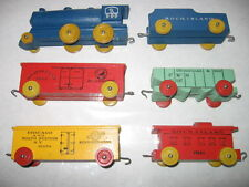 30's/40s  WOODEN TOY TRAIN >NEAR MINT rock island northern pacific ohio chicago