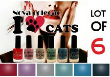 LOT DE 6 COULEURS NOUVEAU VERNIS À ONGLES 11 ml CLICHÉ I Love Cats J'aime chats