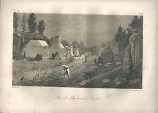 1827 VIA DELLE TOMBES DE POMPÉI NAPOLI Le Riche Eau tinte original