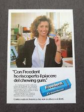 F746-Advertising Pubblicità- 1988 - FREEDENT CHEWING GUM NON SI ATTACCA AI DENTI