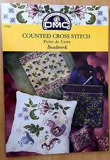 DMC Cross stitch pattern book Beadwork