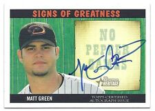 Matt Green 2005 Bowman Heritage Signs Of Greatness Card # SG-MG