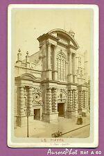 CDV LE HAVRE Cathédrale Notre Dame façade entrée avec badauds Réf A60