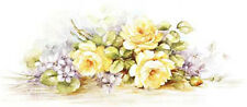 VinTaGe IMaGe FaBuLouS LiLaC & YeLLoW RoSeS SWaGs SHaBbY WaTerSLiDe DeCALs