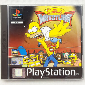 The Simpsons Wrestling PS1 Playstation 1 (CD & Case VGC) With Manual