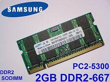 2GB DDR2-667 PC2-5300 667Mhz SAMSUNG M470T5663QZ3-CE6 LAPTOP SODIMM RAM SPEICHER