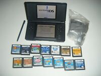 Nintendo DS Lite COBALT BLUE Handheld System Console and LOT 14 Games