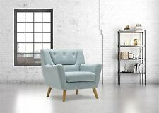 Birlea Lambeth Armchair Duck Egg Blue Easy Chair Scandinavian Modern Retro
