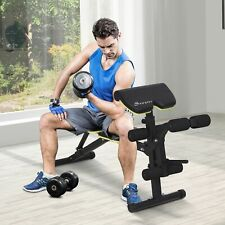 Soozier Multi-Functional Sit-Up Dumbbell Bench Adjustable Seat and Back Angle