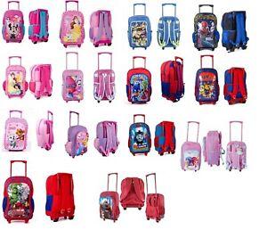 New Kid Disney character print school travel luggage backpack trolley wheel bag