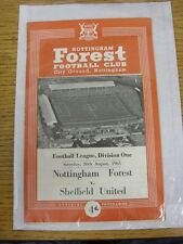 26/08/1961 Nottingham Forest v Sheffield United  . This item has been inspected,