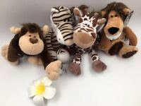 """10"""" Plush toy NICI lion tiger deer monkey Jungle brothers toy Doll"""