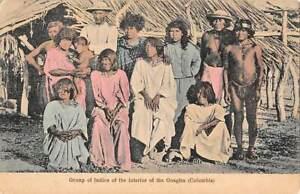 GOAGIRA, COLOMIA, NATIVE MEN & WOMEN, BOCAS DEL TORO PANAMA PUB RARE PC 1907-20